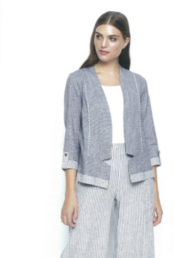 Picadilly FM508 Mini Check Jacket BLACK/WHITE