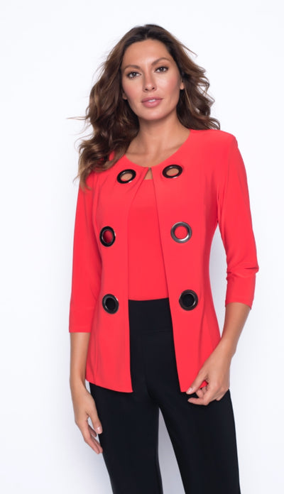 Frank Lyman 191019 Jane Jacket and Cami RED