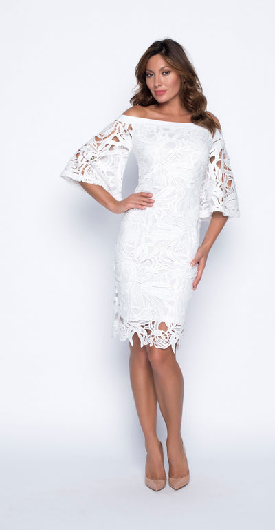 Frank Lyman 191412 Lace Dress WHITE