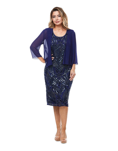 PSM JH0003 Rachel Dress and Jacket PURPLE