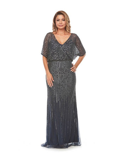 PSM JH0270 Jesse Beaded Gown NAVY