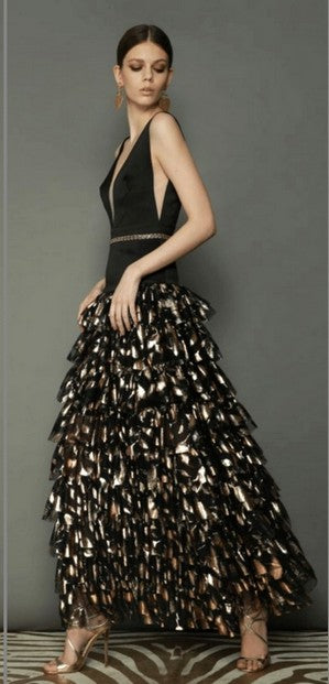 Bronx and Banco Maya Gown BLACK/GOLD
