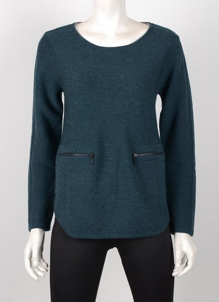 Foil FO4561 Zip Pocket Sweater TEAL