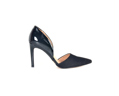 Brazilio AD48512 Suede and Patent Pump BLACK