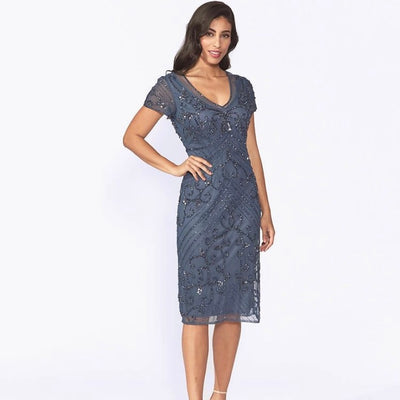 PSM JH0264 Myko Dress GUNMETAL