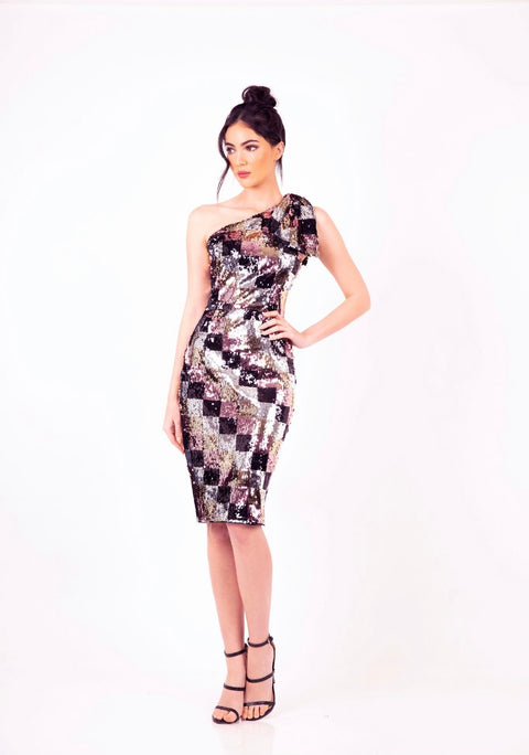 PSM RD211202 Dance All Night Bow Dress MULTI COLOUR