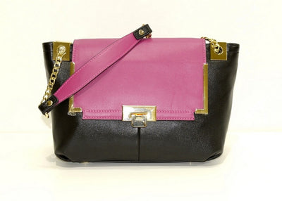 PSM Leather Shoulder Bag BLACK