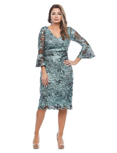 PSM JH0306 Misty Lace Dress SAGE