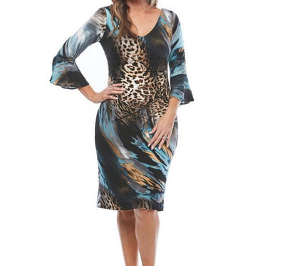 PSM JH0301 Gabrielle Print Dress ANIMAL