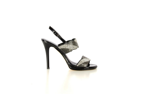 PSM 3064 Beaded Evening Sandal BLACK
