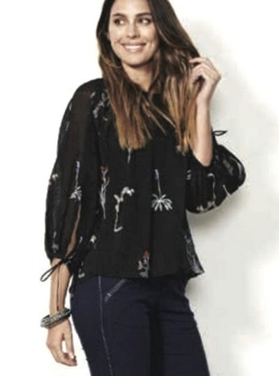 Holmes and Fallon HF1535 Blouse BLACK