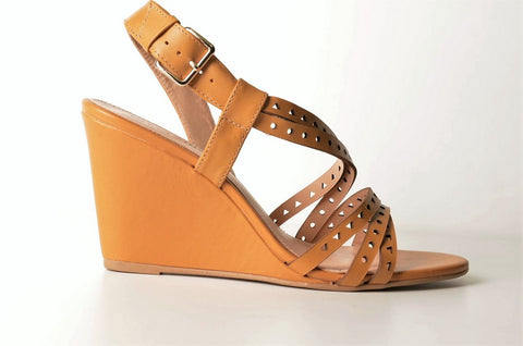 Brazilio ST1290500 Wedge Sandal TAN
