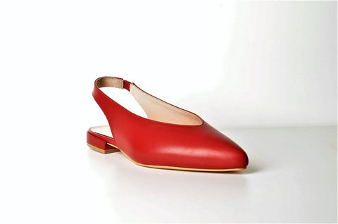 Bertoni 531 Leather Flatty RED