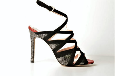 Gia 3650 Mixmedia Evening Sandal BLACK