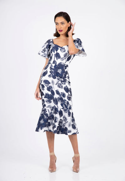 PSM RD212005 Amore Dress NAVY/WHITE