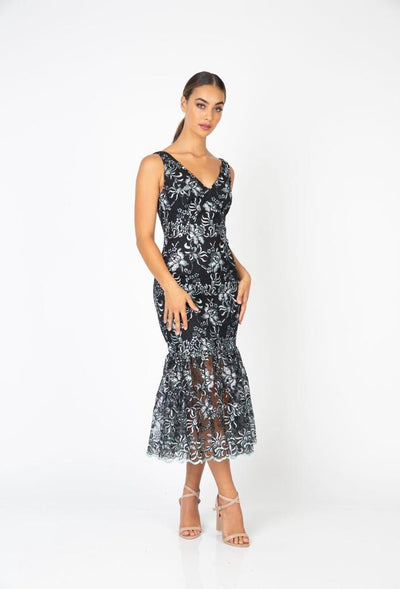 PSM RD203109 Perfect Fishtail Dress BLACK