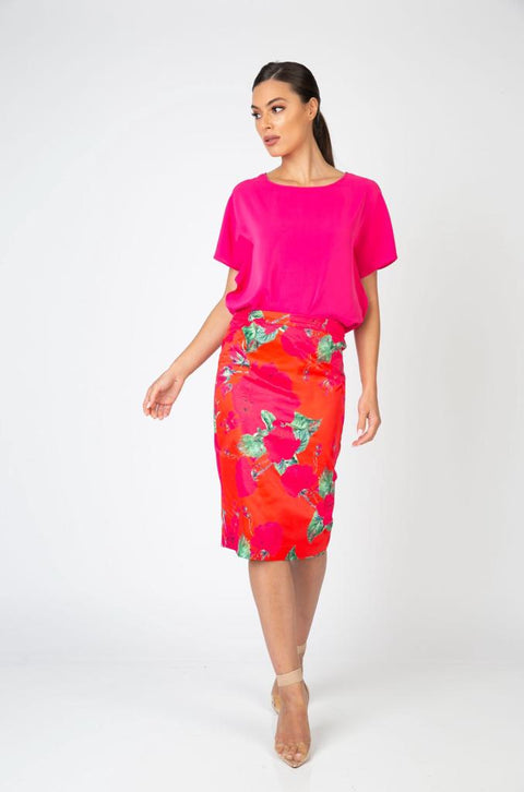PSM PS203001 Sienna Skirt FUSCHIA