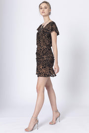 Honey and Beau HFD201002 Instincts Frill Dress ANIMAL