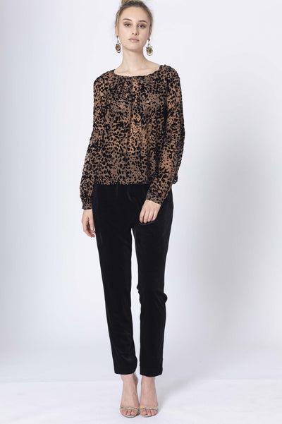 Honey and Beau HB201002 Instincts Blouse ANIMAL