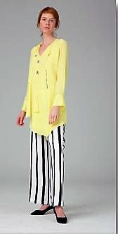Hukka 4528 Asymmetrical Tunic YELLOW