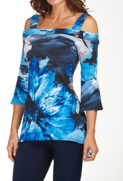 Frank Lyman 181323 Print Top BLUE