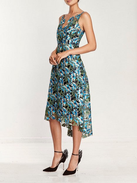 Moss And Spy Gardenia Dress BLUE