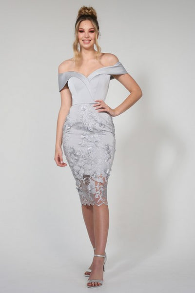Tina Holy TA257 Ghalia Dress SILVER