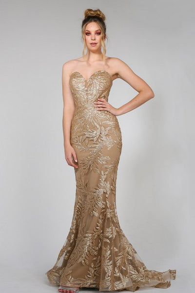 Tina Holly TA107 Pina Gown GOLD