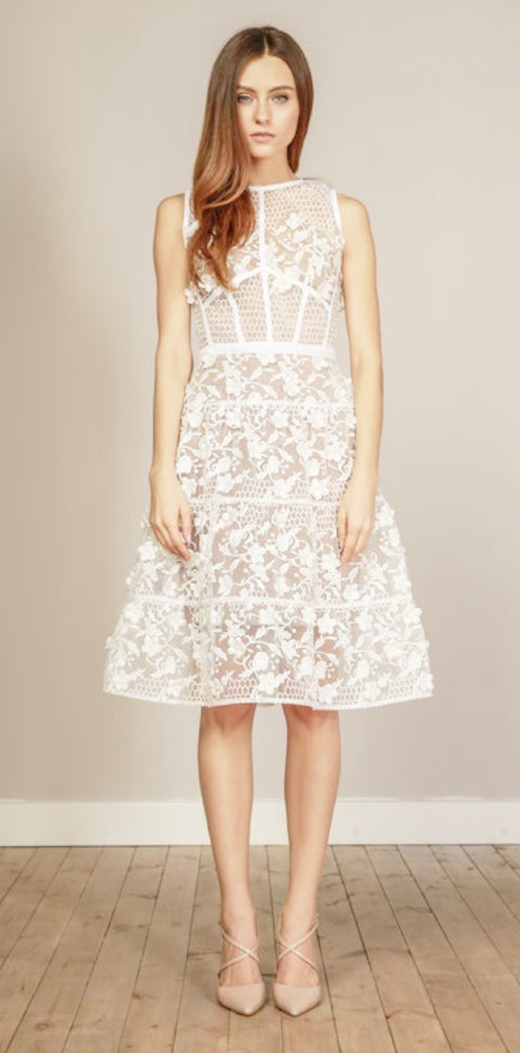 Bronx and Banco Osa Dress WHITE