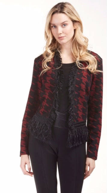 Frank Lyman 183772 Fringe Jacket RED
