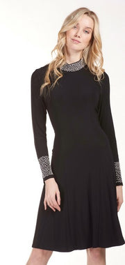 Frank Lyman 183089 Pearl Edge Dress BLACK