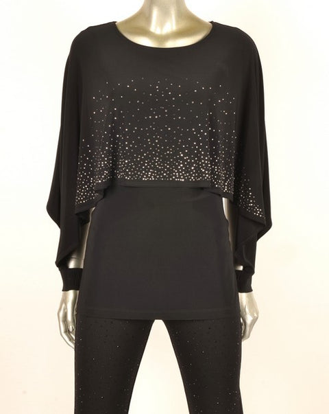 Picadilly GY715 Stud Cape Top BLACK