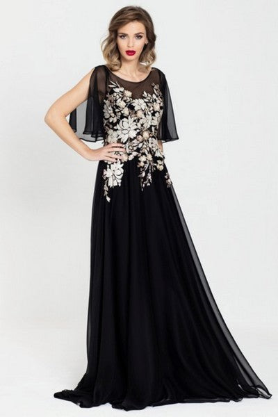 Nazzan 7313 Anthea Gown BLACK
