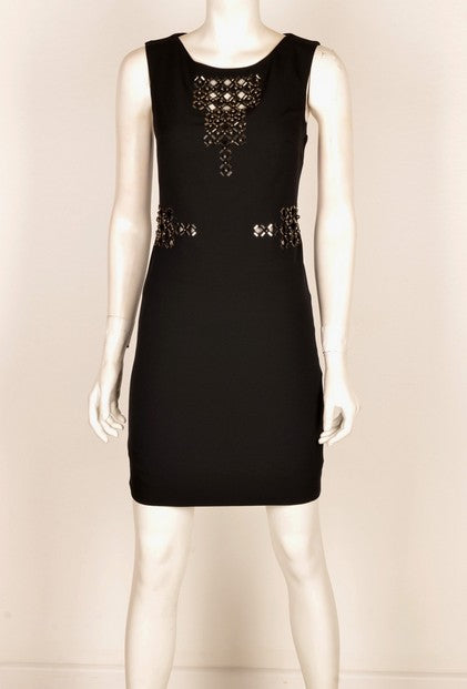 Mianotte 1581 Mirror Disc Dress BLACK