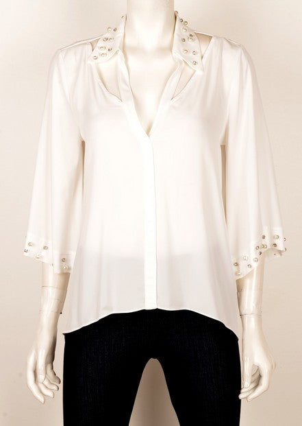 Mianotte 3291 Pearl Evening Top IVORY