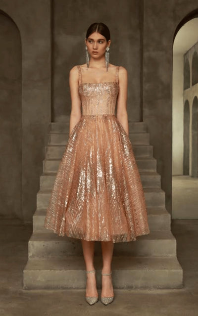 Bronx and Banco Mademoiselle Dress GOLD
