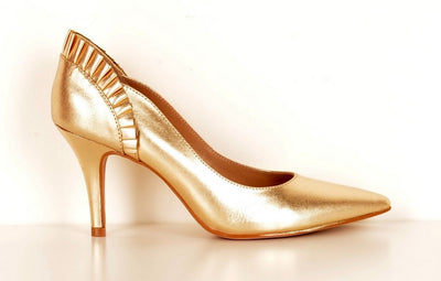 Brazilio ST1430501 Pleated Pump GOLD
