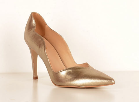Brazilio AD4850 Scalloped Pump PEWTER