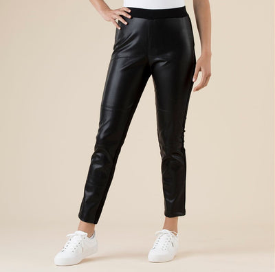 Hammock and Vine 30561 Leatherette Pants BLACK
