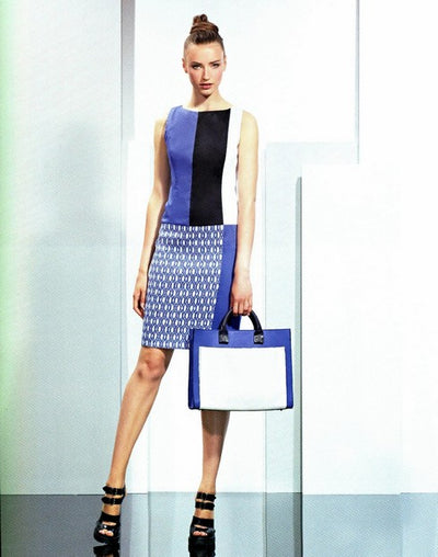 Mariella Rosati Italian Shift Dress BLUE