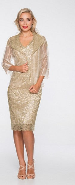 PSM 394LN Dress and Jacket GOLD