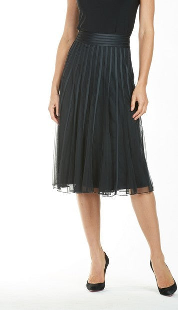Frank Lyman 185113U Ribbon Mesh Skirt BLACK
