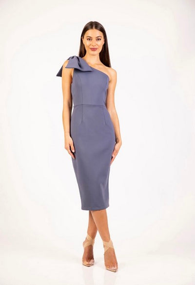 PSM RD204106 Maddison Bow Dress INDIGO