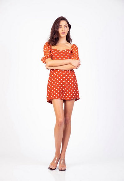 PSM HR204105 Be Free Playsuit ORANGE