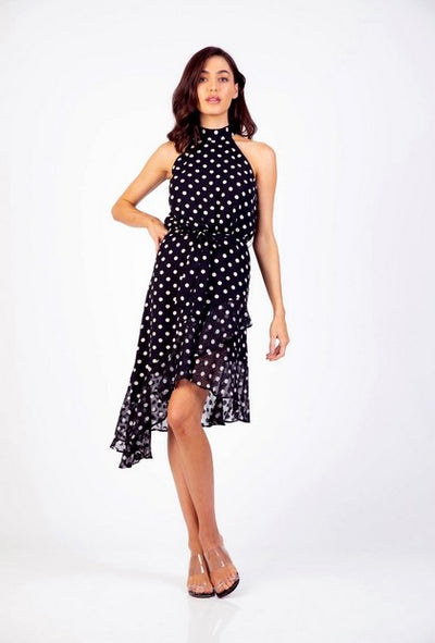 PSM HD204005 Be Free Halter Dress BLACK