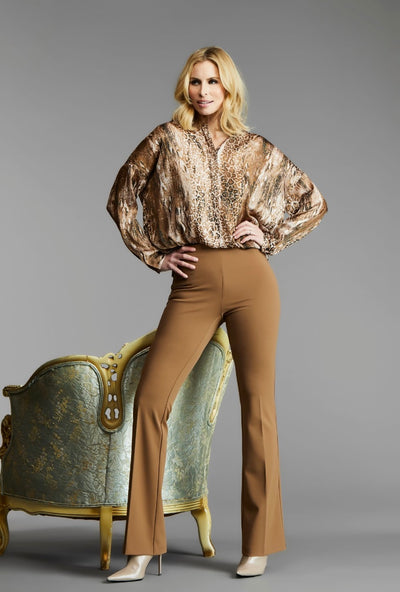 UP 67083 Crepe Bootleg Pant TAN
