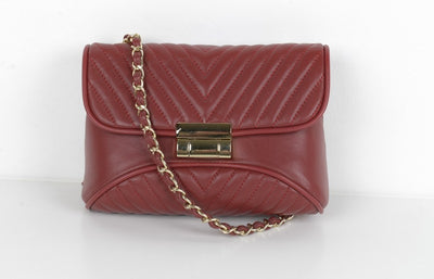 PSM P9536 Leather Mini Bag WINE