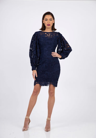 PSM RD212407 Infinity Sleeve Dress NAVY