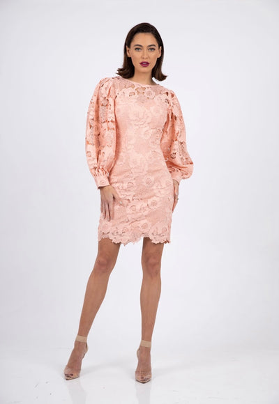 PSM RD212407 Infinity Sleeve Dress PEACH