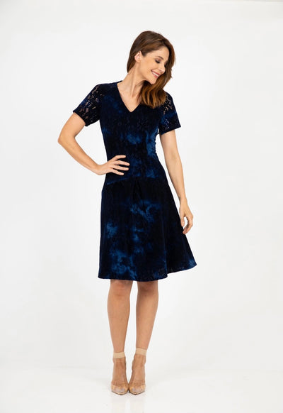 PSM PD212101 Believe in Love Dress NAVY
